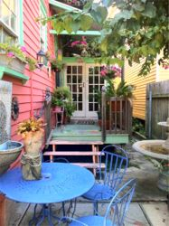 Garden at La Dauphine bed and breakfast, French Quarter, New Orleans